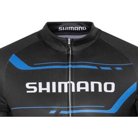 Shimano Print Fietsshirt korte mouwen Heren, black